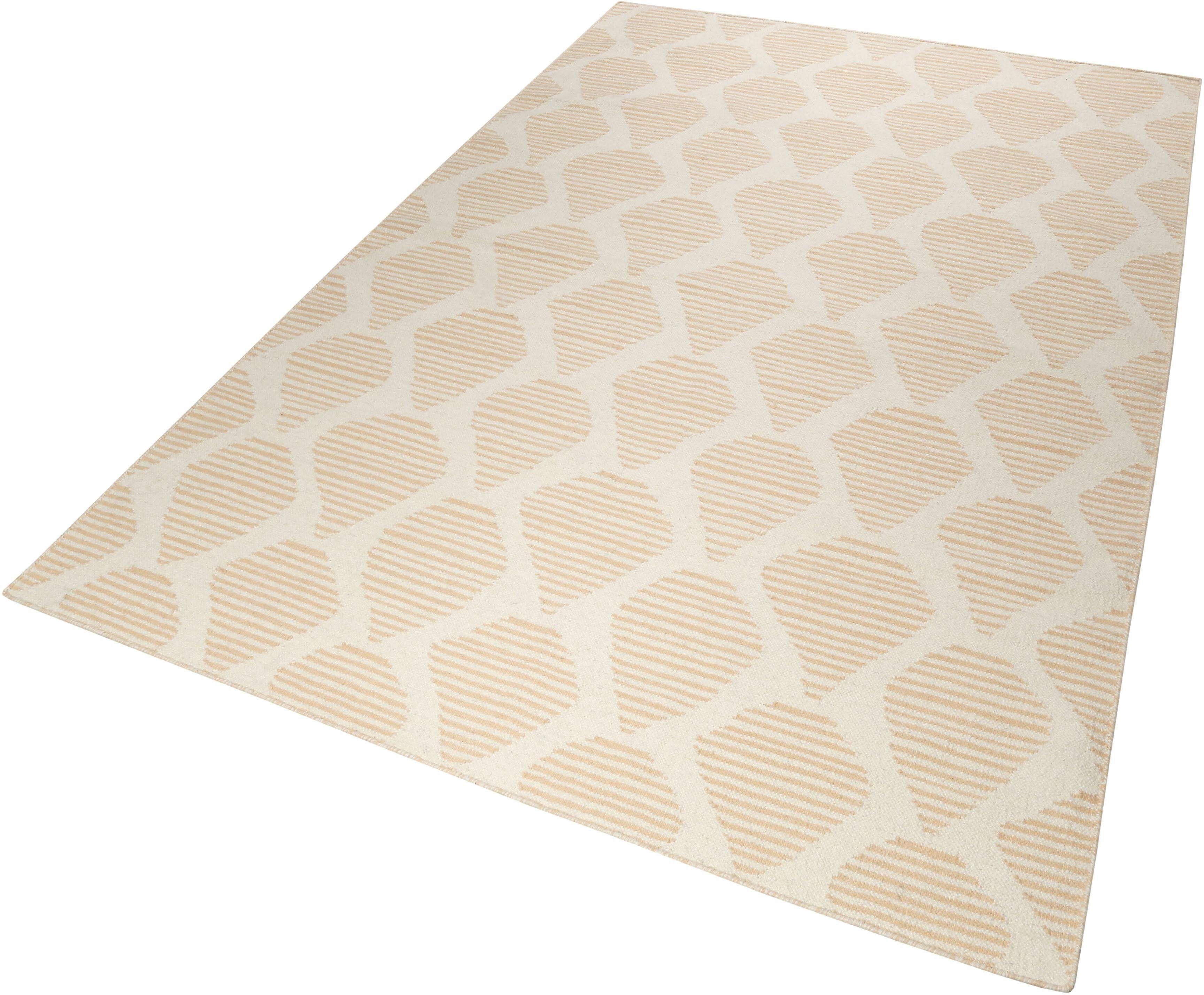 Esprit Wollteppich »Rainns Kelim«, , rechteckig, Höhe 4 mm, orange-beige