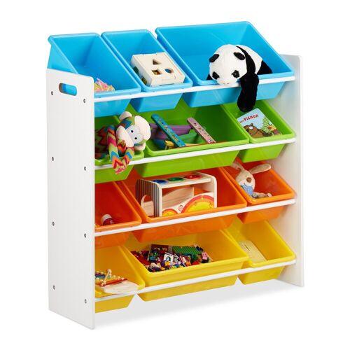 relaxdays Standregal »Kinderregal mit Regalboxen«