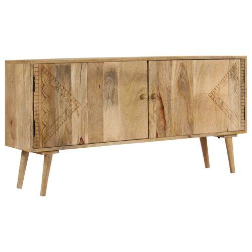 vidaXL Sideboard »Sideboard Massivholz Mango 120 x 30 x 60 cm«