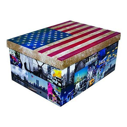 Kreher Aufbewahrungsbox »USA«, rot/weiß/blau