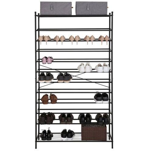 SONGMICS Schuhregal »RTG01H«, Schuhschrank für bis zu 70 Paar Schuhe, schwarz