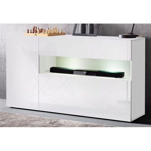 Tecnos Sideboard, Breite 140 cm, weiß/weiß-hg