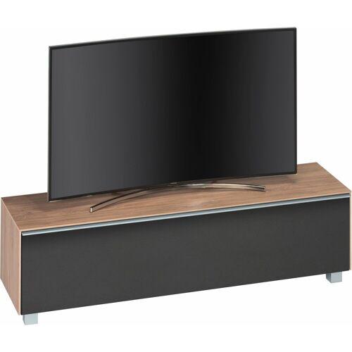 Maja Möbel TV-Board, Breite 160 cm, Eiche hell - Akustikstoff schwarz