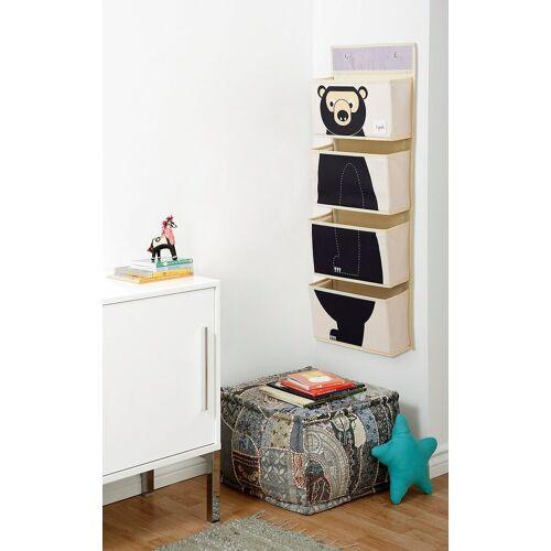 3 Sprouts Aufbewahrungsbox »Wandaufbewahrung Bär, 94 x 33 cm«, schwarz