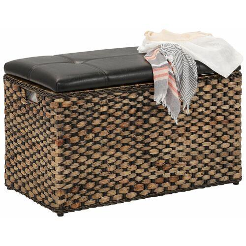 Home affaire Sitztruhe mit aufklappbarem Deckel, natur-braun