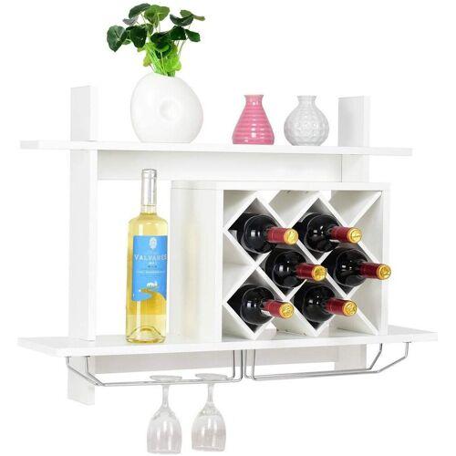 COSTWAY Weinregal »Flaschenregal Weinschrank Weinflaschenhalter«, weiß