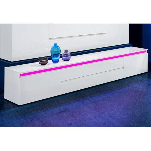 Tecnos Lowboard »Magic«, Breite 240 cm, weiß hg