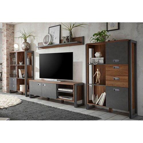 Home affaire Wohnwand »Detroit Set 2«, (Set, 4-tlg), im angesagten Industrial Look