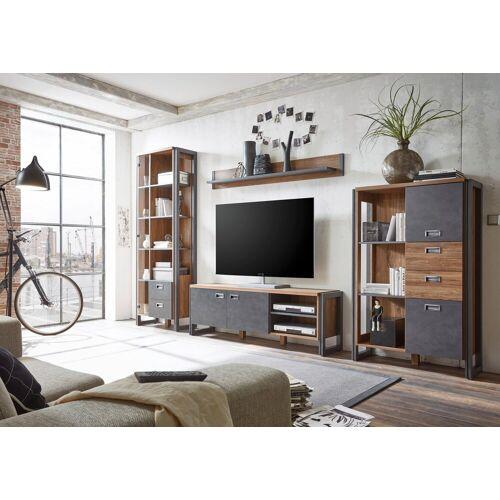 Home affaire Wohnwand »Detroit Set 4«, (Set, 4-tlg), im angesagten Industrial Look