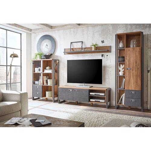 Home affaire Wohnwand »Detroit Set 3«, (Set, 4-tlg), im angesagten Industrial Look