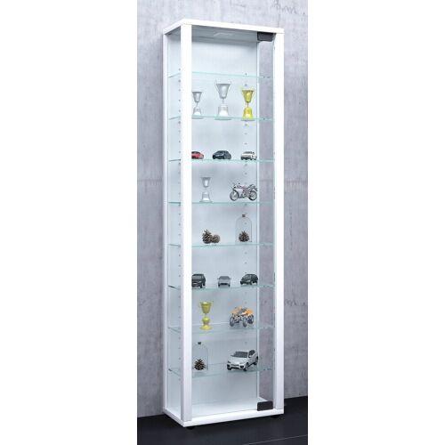 "VCM Standvitrine »Glas Stand - Vitrine ""Edana Maxi""«, Mit LED: Weiß"