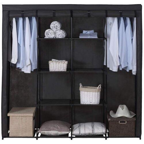 Woltu Kleiderschrank Stoffkleiderschrank Garderobenschrank, grau