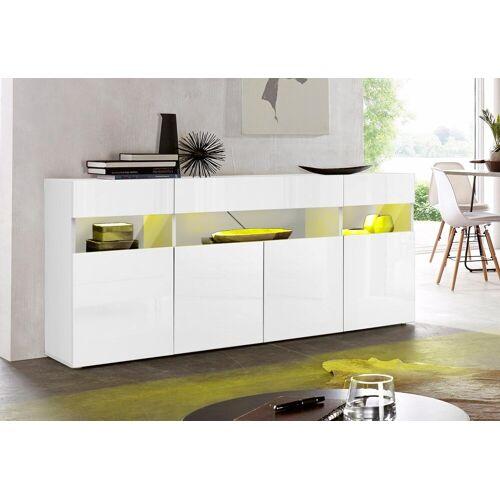 Tecnos Sideboard, Breite 173 cm, weiß/weiß-hg