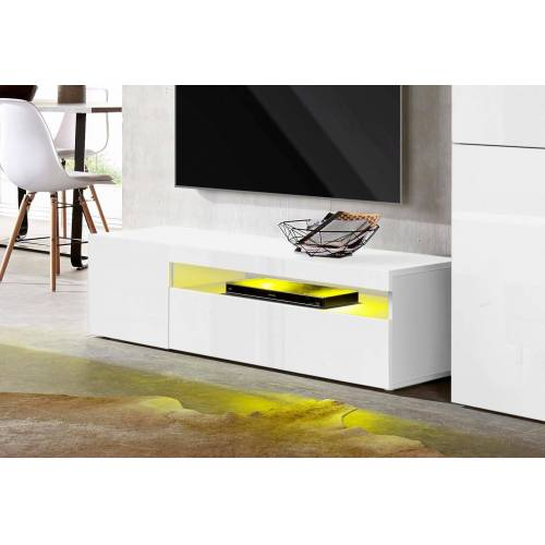 Tecnos Lowboard, Breite 130 cm, weiß/weiß-hg