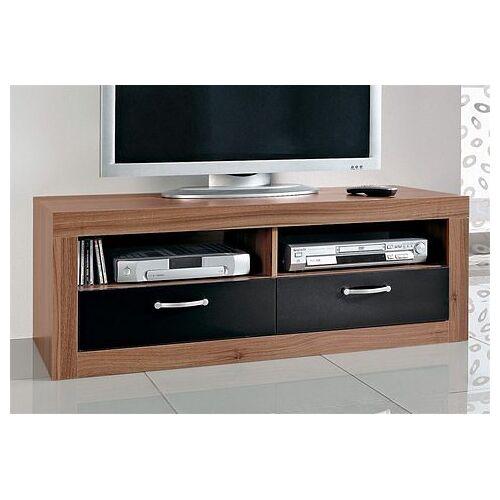 TV-Board, Breite 121 cm, kernnussbaumfb.-schwarz