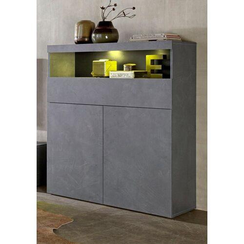 Tecnos Highboard, Breite 100 cm, Zement-Optik