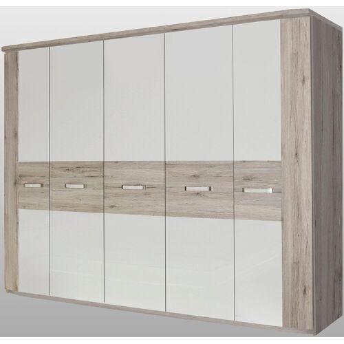 FORTE Kleiderschrank »Rondino« mit Kranz