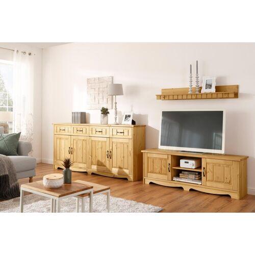 Home affaire Wohnwand »Trinidad«, (Set, 3-tlg), Set aus 1 Wandboard, 1 Sideboard, 1 Lowboard, natur-geölt