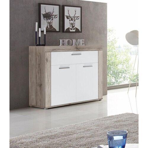 FORTE Kommode, Breite 96 cm, Sandeichefarben-weiß