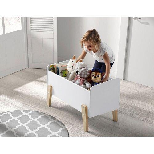 Vipack Spielzeugtruhe »Kiddy«, MDF-Oberfläche, weiß