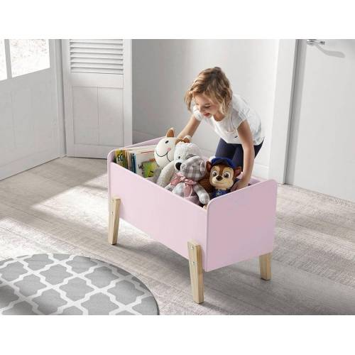 Vipack Spielzeugtruhe »Kiddy«, MDF-Oberfläche, rosa