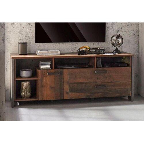 Lowboard, Breite 161 cm, Old Wood Vintage-Beton-Optik
