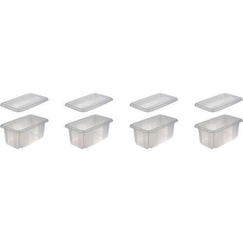 keeeper Aufbewahrungsbox »emil« (Set, 4 Stück), transparent