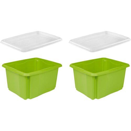 keeeper Aufbewahrungsbox »emil« (Set, 2 Stück, 2), aufeinander stapelbar, grün