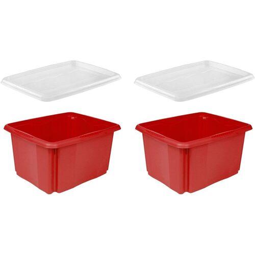 keeeper Aufbewahrungsbox »emil« (Set, 2 Stück, 2), aufeinander stapelbar, rot