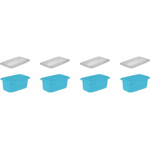 keeeper Aufbewahrungsbox »emil« (Set, 4 Stück), blau