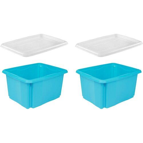 keeeper Aufbewahrungsbox »emil« (Set, 2 Stück, 2), aufeinander stapelbar, blau