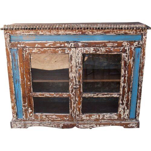 Guru-Shop Standvitrine »Glastür Kommode aus Recycel-Holz - Modell 2«