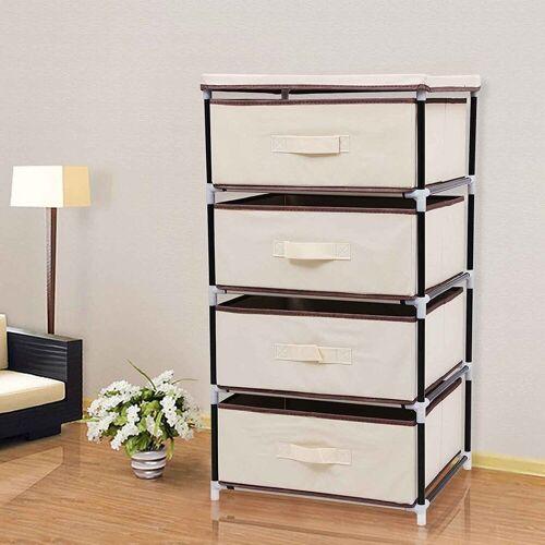 SONGMICS Aufbewahrungsbox »RLG14M«, Aufbewahrung Schubladenschrank, Stoffschrank, beige