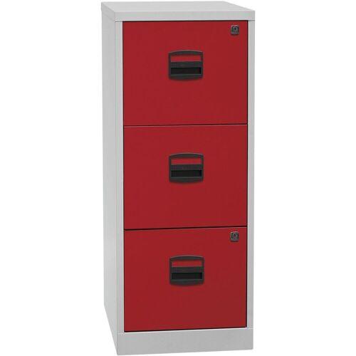 Bisley Home Hängeregisterschrank »PFA« aus Stahl, ohne Sockel, A4, rot