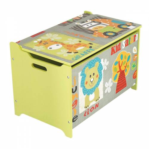 BIECO Spielzeugtruhe »Spielzeugtruhe und Sitzbank Aufbewahrungsbox Kinder Holzkiste mit Deckel Sitzbank mit Stauraum Spielzeugkiste mit Deckel Truhe Holz Aufbewahrung Kinderzimmer Spielzeugkiste Holz«