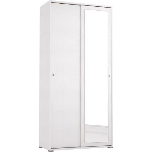 Garderobenschrank »Slide Spiegel« mit Spiegel, weiß/weiß