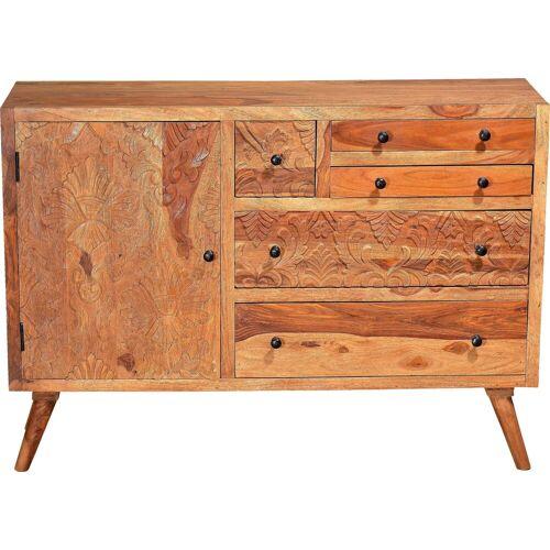 SIT Sideboard »Carved«, aus Sheesham Holz, Breite 120 cm
