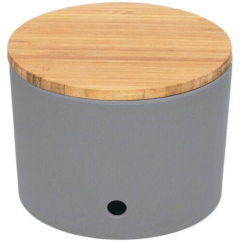 Magu Vorratsdose »Knoblauchtopf Design Silber«, Bambus Maisstärke