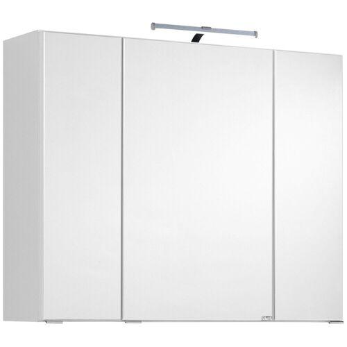 HELD MÖBEL Spiegelschrank »Texas« Breite 80 cm, mit LED-Aufbauleuchte, weiß