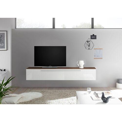 LC Lowboard »Infinity«, weiß/Top nussbaum dunkel NB