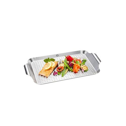 GEFU Grillschale »Grillpfanne BBQ Grillpfanne BBQ«, Edelstahl, Grillpfanne