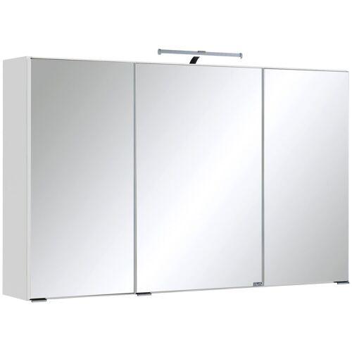 HELD MÖBEL Spiegelschrank »Texas« Breite 100 cm, mit LED-Aufbauleuchte, weiß