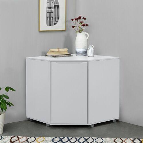 en.casa Eckschrank »Hällefors« Eckkommode Büroschrank 76,5 x 78 x 78 cm weiß, weiß
