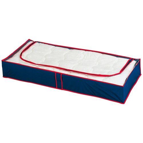 WENKO Unterbettkommode »Unterbettkommode Blau-Rot, 8er Set«, rot/blau