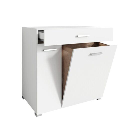 Vicco Wäscheschrank »Wäschekorb Matteo Waschmaschinenschrank Badschrank XL Weiß 1/2«