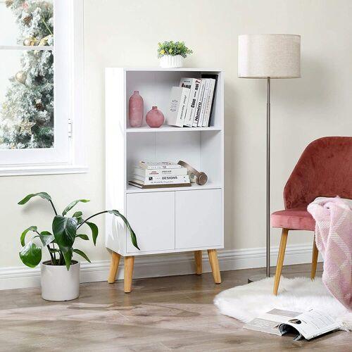 VASAGLE Bücherregal »LBC09WT«, Bücherschrank, Wohnzimmerschrank, weiß