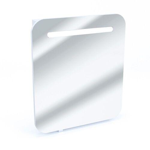Vicco Badezimmerspiegelschrank »LED Spiegelschrank Badspiegel Badschrank Spiegel 60 Weiß Hochglanz«