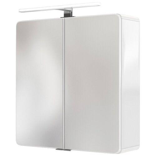HELD MÖBEL Spiegelschrank »Seattle Spiegelschrank 60« LED-Acryl-Aufbauleuchte, weiß - weiß