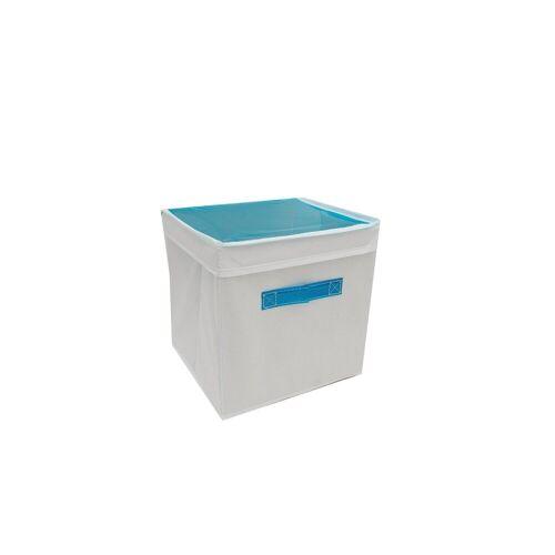HTI-Line Aufbewahrungsbox »Aufbewahrungsbox mit Deckel Paloma« (1 Stück), Stoffbox, Blau