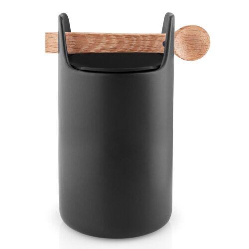 Eva Solo Aufbewahrungsbox »Toolbox mit Löffel Eiche/Keramik Schwarz H 20 cm«, Keramik, (1-tlg)